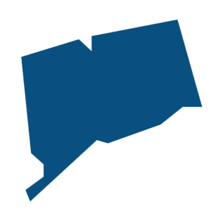 Vector image of the state of Connecticut.